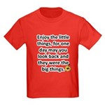 Enjoy the little things Kids Dark T-Shirt