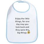 Enjoy the little things Bib