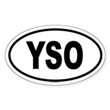 YSO Oval Decal