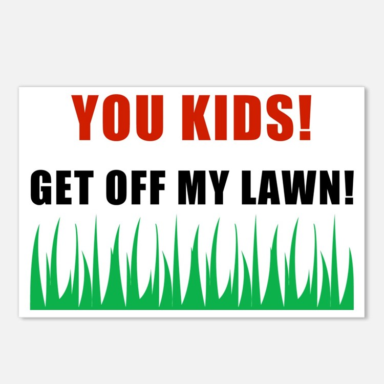 You Kids Get Off My Lawn Postcards (Package of 8)