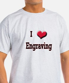 I Love (Heart) Engraving T-Shirt