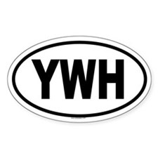 YWH Oval Decal