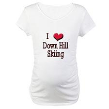 I Love (Heart) Down Hill Skii Shirt