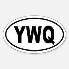 YWQ Oval Decal