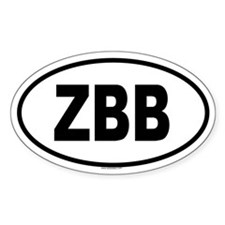 ZBB Oval Decal