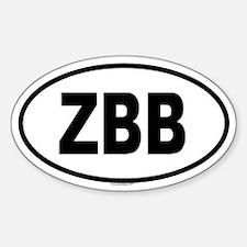 ZBB Oval Decal