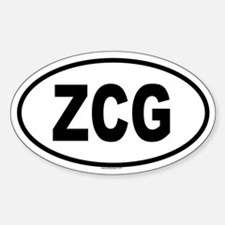 ZCG Oval Decal