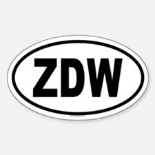 ZDW Oval Decal