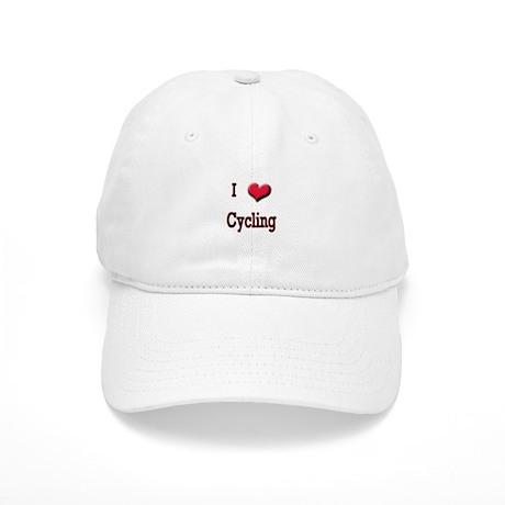 I Love (Heart) Cycling Cap