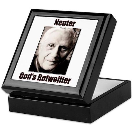 Neuter God's Rotweiller Keepsake Box