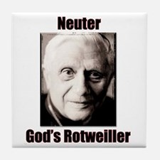 Neuter God's Rotweiller Tile Coaster