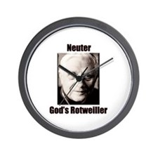 Neuter God's Rotweiller Wall Clock