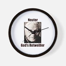 Neuter God's Rotweiller Wall Clock