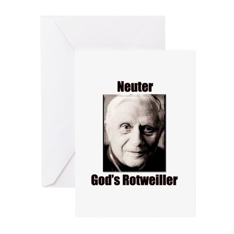 Neuter God's Rotweiller Greeting Cards (Package of