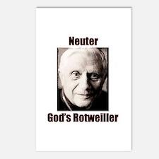 Neuter God's Rotweiller Postcards (Package of 8)