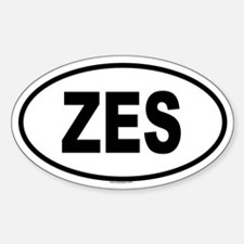 ZES Oval Decal