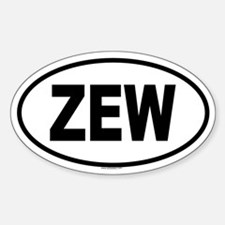 ZEW Oval Decal