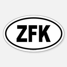 ZFK Oval Decal
