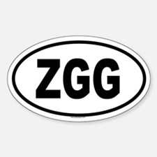 ZGG Oval Decal