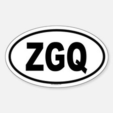 ZGQ Oval Decal