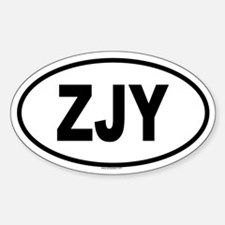 ZJY Oval Decal
