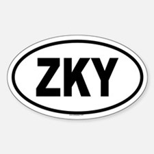 ZKY Oval Decal