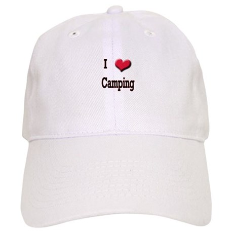 I Love (Heart) Camping Cap