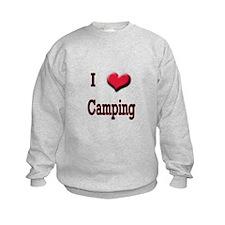I Love (Heart) Camping Sweatshirt