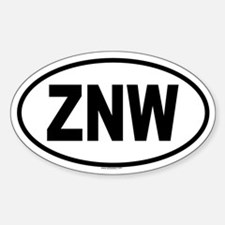 ZNW Oval Decal