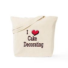 I Love (Heart) Cake Decoratin Tote Bag