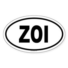ZOI Oval Decal