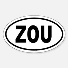 ZOU Oval Decal
