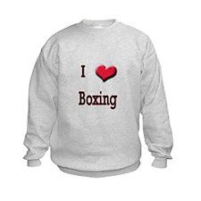 I Love (Heart) Boxing Sweatshirt
