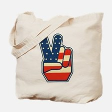 USA PEACE SIGN Tote Bag