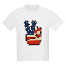 USA PEACE SIGN T-Shirt