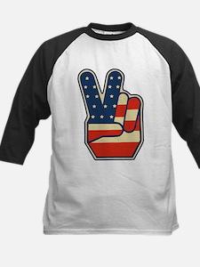USA PEACE SIGN Kids Baseball Jersey