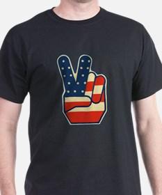 USA PEACE SIGN T-Shirt