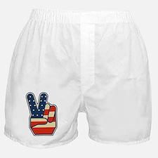 USA PEACE SIGN Boxer Shorts