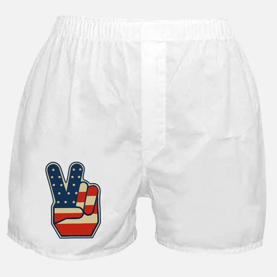 USA PEACE SIGN Boxer Shorts