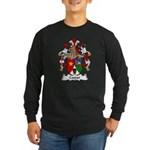 Caspar Family Crest Long Sleeve Dark T-Shirt