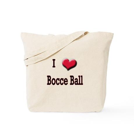 I Love (Heart) Bocce Ball Tote Bag