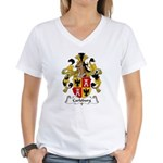 Carlsburg Family Crest Women's V-Neck T-Shirt
