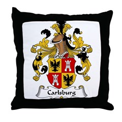 Carlsburg Family Crest Throw Pillow