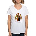 Campe Family Crest Women's V-Neck T-Shirt