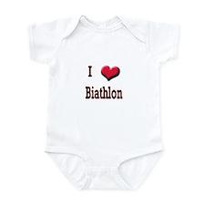 I Love (Heart) Biathlon Infant Bodysuit