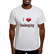 I Love (Heart) Beekeeping T-Shirt