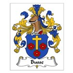 Busse Family Crest Small Poster