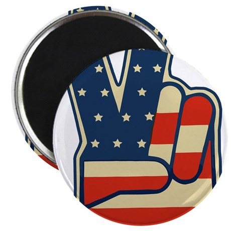 "USA PEACE SIGN 2.25"" Magnet (10 pack)"