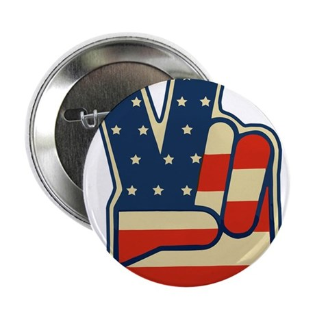 "USA PEACE SIGN 2.25"" Button (100 pack)"