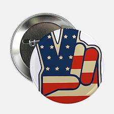 "USA PEACE SIGN 2.25"" Button"